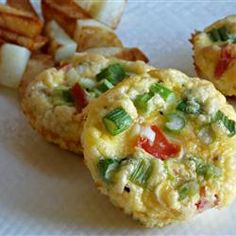 "Tomatoes and Bacon Egg Muffins | ""Make 6 and bring them to work and my entire week of breakfast is covered! Heat one in the microwave every morning. Easy!"""
