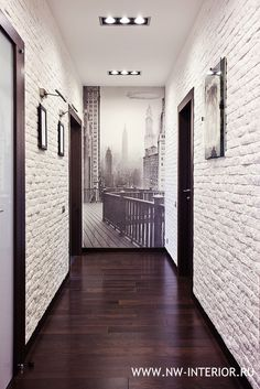 Hallway colours - white walls charcoal grey door frames & light grey doors