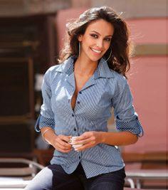 ae1454aee853 115 mejores imágenes de camisas mujer en 2018 | Ropa informal, Blusa ...