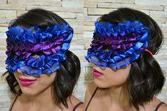 Máscara de Carnaval com Fitas - Clube de Artesanato