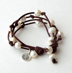 Ankle Bracelets, Bracelets For Men, Beaded Bracelets, Wrap Bracelets, Charm Bracelets, Leather Pearl Bracelet, Leather Jewelry, Leather Bracelets, Yoga Jewelry
