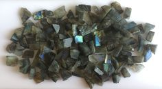 953CT NATURAL LABRADORITE ROUGH SLICE GEMS FLASHY LOOSE LOT RAW MINERAL SPECIMEN #ROUNDSNROSES