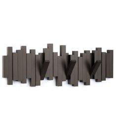 Sculptural and functional, the Sticks wall-mount multi-hook rack from Umbra offers ample storage for coats, bags, accessories and more. Constructed of plastic with an espresso brown finish, Sticks features five Towel Hanger, Coat Hanger, Coat Hooks, Wall Hanger, Wall Hooks, Hanger Hooks, Wall Mount Rack, Wall Mounted Coat Rack, Space Saving Hangers
