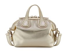 a24f159077fb Nightingale Mini Leather Satchel Bag, Gold by Givenchy at Neiman Marcus.
