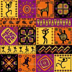 Facts about African Patterns present the ideas about the pattern that you can find in African art. You can enjoy a unique pattern on the African mask design. Arte Tribal, Tribal Art, Afrique Art, African Art Paintings, Madhubani Art, Ethnic Patterns, African Patterns, African Textiles, Pattern Pictures