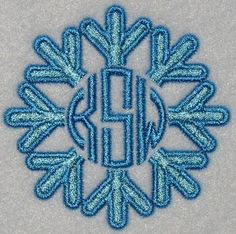 Snow Frame Embroidery Design | Apex Embroidery Designs, Monogram Fonts & Alphabets