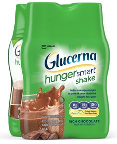 Glucerna Hunger Smart Shake, Rich Chocolate, 11.5 Ounce Bottles, 4 count >>> Discover this special product, click the image : Weight loss Shakes and Powders