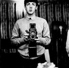 Paul McCartney self portrait with a twin reflex camera