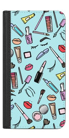 Casetify iPhone 7 Wallet Case - Girly Makeup Addiction Pattern II by Organic Saturation #Casetify