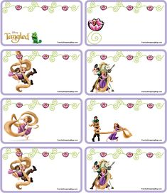 Gift Tags Tangled, Tangled, Gift Tags - Free Printable Ideas from Family… Rapunzel Birthday Party, 4th Birthday Cakes, Tangled Party, 3rd Birthday Parties, Princess Birthday, Diy Birthday, Birthday Ideas, Free Printable Gift Tags, Free Printables