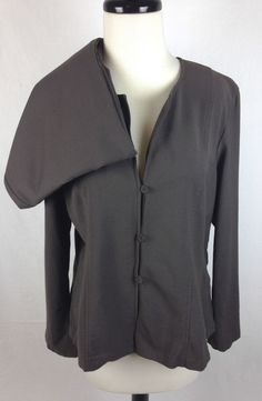 Eileen Fisher Brown Wool Lightweight 2 Piece Outfit Women's L #EileenFisher #BasicJacket