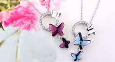 Butterfly Pendants by CAMEO. 925 sterling silver; Crystals from SWAROVSKI.