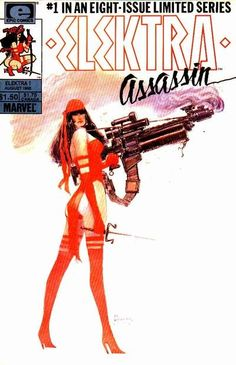 The Elektra: Assassin eight-issue limited series by Frank Miller and Bill Sienkiewicz reintroduced the character to the Marvel Universe after her death at Bullseye's hands in Daredevil Marvel Comics, Hq Marvel, Marvel Comic Books, Fun Comics, Marvel Villains, Marvel Heroes, Dave Mckean, Best Comic Books, Comic Books Art