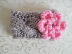 Baby Crochet Headband Newborn Crochet Headband Baby Girl Crochet Headband, Infant Crochet Headband Flower Baby. $11.50, via Etsy.
