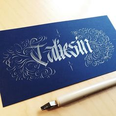Taliesin.  #makedaily #calligraphy #calligraffiti #calligritype #typographyinspired #blackletter #inking #ink #Fraktur #lettering #automaticpen #handstyles #thedailytype #caligrafia #graffiti #showusyourtype #graphicdesign #goodtype #typedaily #typespire #handmadefont #art