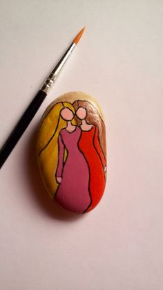 Painted Pebble Friends Forever, Painted Stone, Sisters, Rock, Girlfriends