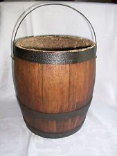 Old Pittsburgh White Lead Works Fahnestock Wood Paint Bucket Barrel Bale Handle