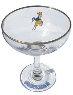 original 50s babycham glasses