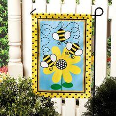 Bee Garden Flag - OrientalTrading.com