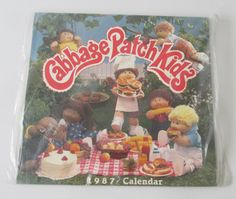 Vintage 80s Cabbage Patch Kids 1987 Calendar by OffsetCollective