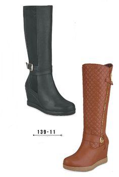575f6e42e Botas Cuña de Cklass. Botas de caña alta de moda