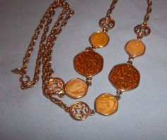 "Vintage Sarah Coventry Honey Amber Colored Necklace ""Taste of Honey"" 1974 #SarahCoventry"