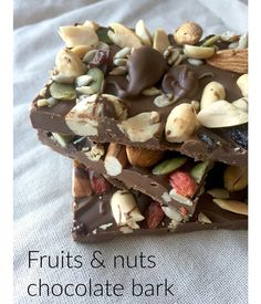 Dried fruits and chocolate bark with Goji berries for extra boost ...