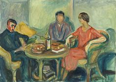 Oslo Bohemians 1925–26 / Oil on canvas / 72 x 100 cm Munch Museum