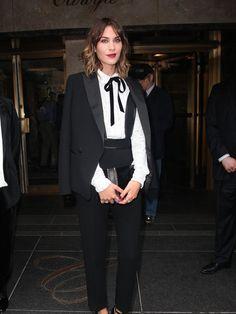 Alexa Chung in a Chanel Tuxedo