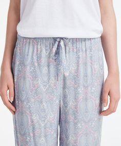 Grey printed trousers - Long.
