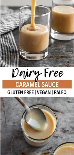This easy caramel sauce recipe only has 4 ingredients! It's gluten free, dairy free, paleo, and can be made into a vegan caramel sauce by using coconut sugar. This caramel drizzle recipe is perfect fo Coconut Milk Recipes, No Dairy Recipes, Vegan Recipes Easy, Whole Food Recipes, Beef Recipes, Chicken Recipes, Dinner Recipes, Chicken Dips, Rotisserie Chicken