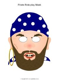 Pirate role-play masks (SB10403) - SparkleBox