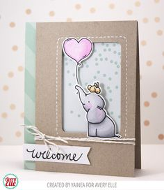 Yainea for Avery Elle using the Chameleon Pastel Pen Set, our Ellie stamp set, our Sorbet and Everyday paper pads and the sentiment from our We R Family Additions stamp set.