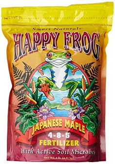 Happy Frog Japanese Maple Fertilizer with Active Soil Microbes Organic Fertilizer For Vegetables, Garden Plants Vegetable, Planting Vegetables, Japanese Maple Tree Care, Pearl City, Leaf Coloring, Just Giving, Ph, Trees