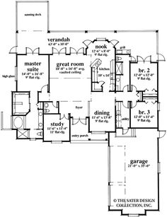 Home Plan Kingsmill Lane | Sater Design Collection