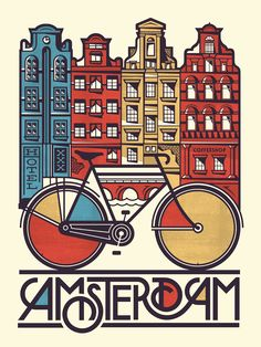When I think of Amsterdam, I think of bicycles - Pavlov Visuals Coffrets cadeaux Flying Pass, www.flyingpass.fr