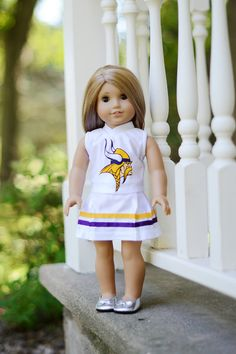 American Girl Doll Minnesota Vikings NFL by janscraftroom on Etsy, $23.00