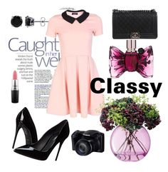 """classy outfit"" by iconsoffashion ❤ liked on Polyvore featuring Dolce&Gabbana, Chanel, BERRICLE, Viktor & Rolf, MAC Cosmetics and LSA International"