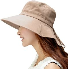 c95f242647cc2 Siggi Womens Summer Flap Cover Cap Cotton UPF 50+ Sun Shade Hat with Neck  Cord