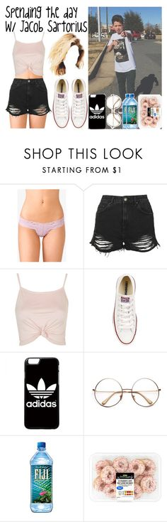 """Spending the day with Jacob Sartorius"" by luni-salazar ❤ liked on Polyvore featuring Forever 21, Topshop, Converse and adidas"