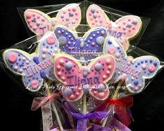 Butterfly Cookie Pops 12 Cookie Pops by lorisplace on Etsy