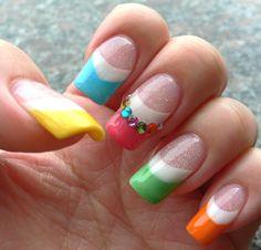 colorful summer nail