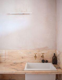 remodelista pink bathroom roundup.
