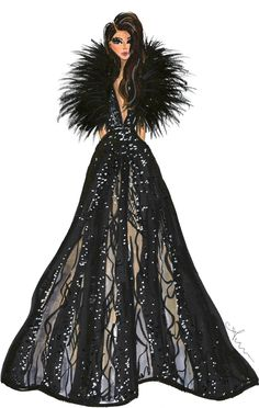 Anum Tariq Illustrations - Elie Saab Spring 2015 Couture