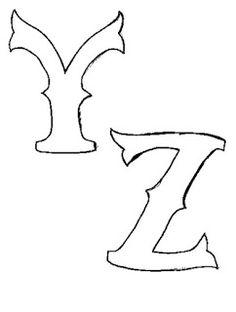60 MOLDES DE LETRAS DIFERENTES PARA BAIXAR! - ALFABETOS LINDOS Free Printable Letter Stencils, Alphabet Templates, Printable Letters, Moldes Para Baby Shower, Applique Letters, Scrapbook Borders, Hand Lettering Alphabet, Baby Sewing Projects, Lettering Styles