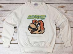 True Vintage 1988 Nintendo Power Mario Childs Boys Sweatshirt Size Large Rare  | eBay