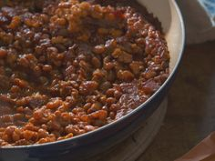 Grammy Carl's Rule For Baked Beans Recipe : Nancy Fuller : Food Network Bean Recipes, Veggie Recipes, Cooking Recipes, Fall Recipes, Food Network Farmhouse Rules, Nancy Fuller, Roasted Beet Salad, Brunch, How To Cook Beans