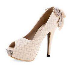 Leatherette Upper Stiletto Heel Pumps With Bowknot Party/ Evening Shoes More Colors Available US $49.79