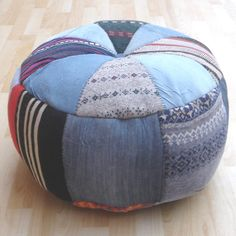 Ethnic Pouf Multi by trendy one via NuLoom
