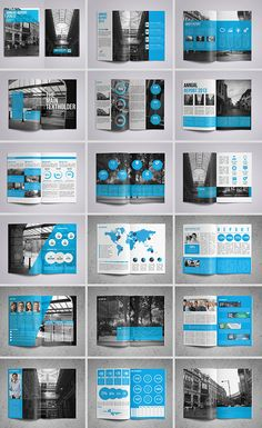 15 Folders modernos e criativos – – Yearbook jOURney References – layout Template Brochure, Design Brochure, Booklet Design, Brochure Layout, Graphic Design Layouts, Graphic Design Inspiration, Branding Design, Report Template, Creative Brochure